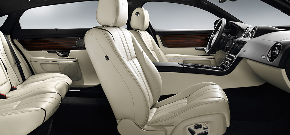 2013 Jaguar XJ Portfolio With Ivory Seats And Jet Upper Fascia In Soft  Grain Leather.