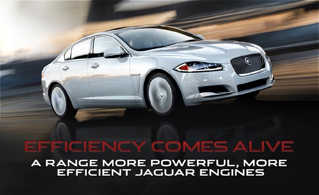 Efficiency Comes Alive - A range more powerful, more efficient Jaguar engines